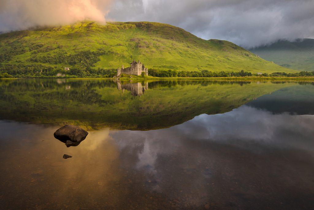 Europe, United Kingdom, UK, Scotland, Argyll, Loch Awe, Kilchurn Castle