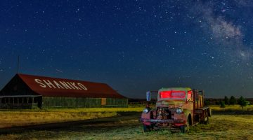 Shaniko Ghost Town Astro Photography